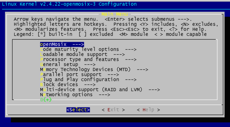 Installazione di OpenMosix
