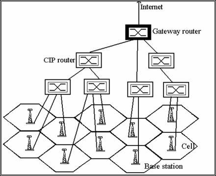 Figura I-4: Schema di una rete Cellular IP