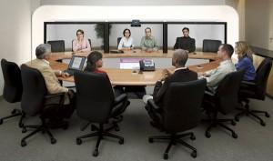 Esempio di sistema Telepresence (di Cisco)