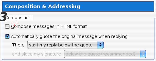Impostazione del Plain Text