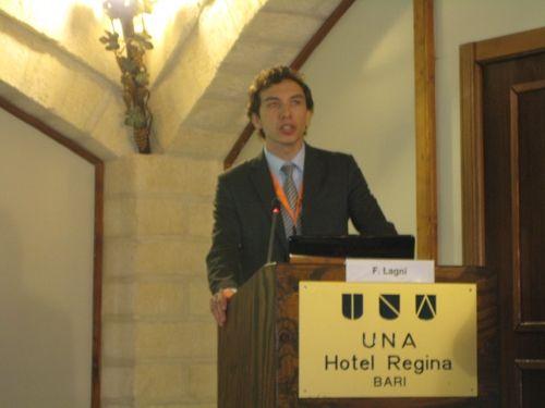 Federico Lagni di AreaNetworking.it durante l'IP Security Forum 2011 di Bari