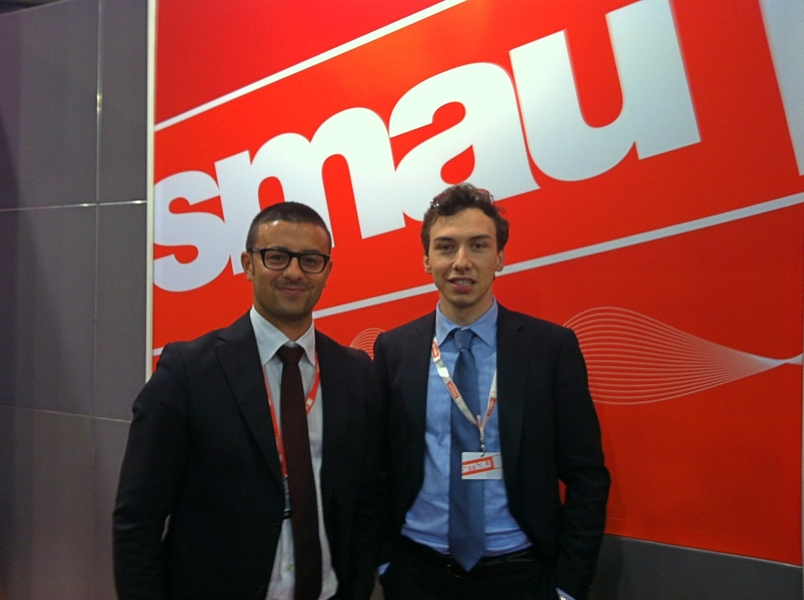 Marco Volpi di SMAU e Federico Lagni di AreaNetworking.it