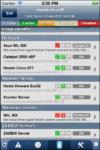 MobileOp: Schermata che include tutti gli host monitorati