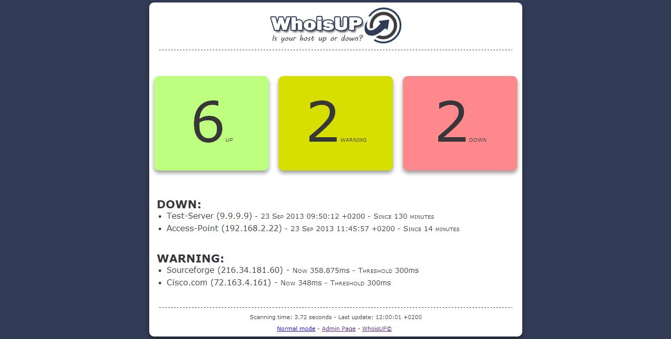 Rilasciato WhoisUP v0.2