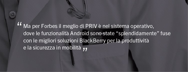 BlackBerry PRIV sicurezza
