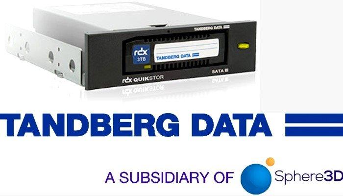 Tandberg Data, società controllata da Sphere 3D, annuncia la disponibilità della nuova e veloce unità a disco rimovibile RDX QuikStor SATA III