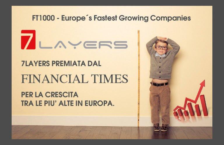7Layers Srl premiata dal Financial Times per essere tra le 1000 imprese europee con il più alto tasso di crescita