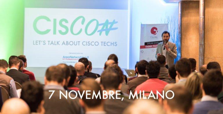 Disponibili i biglietti per CisCon 2018, la conferenza italiana dedicata alle tecnologie Cisco