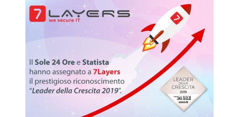 """7Layers entra in classifica """"Leader della crescita 2019"""""""