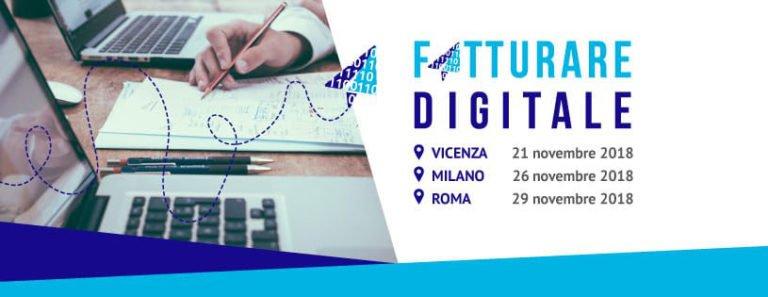 Tutto quello che c'è da sapere sulla fatturazione elettronica in una conferenza itinerante a Vicenza, Milano e Roma.