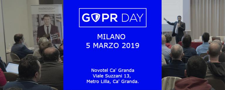 Milano 5 marzo 2019: annunciata la nuova tappa del GDPR Day