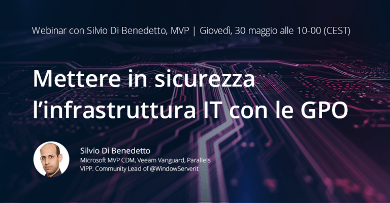 Webinar Netwrix sulle Group Policy Object