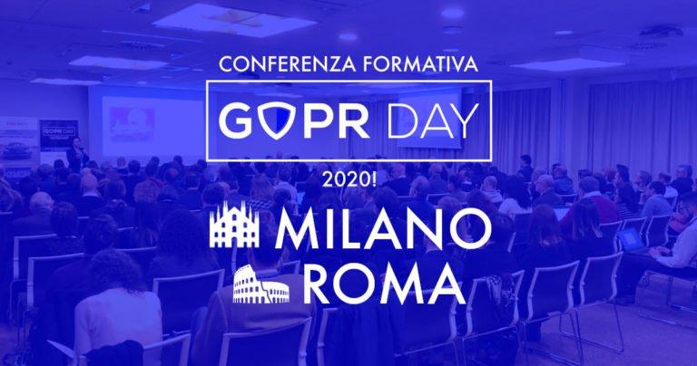 GDPR Day 2020: annunciata la nuova edizione a Milano e Roma
