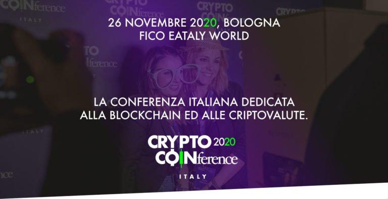 Il 26 Novembre a FICO Eataly World di Bologna arriva Crypto Coinference 2020
