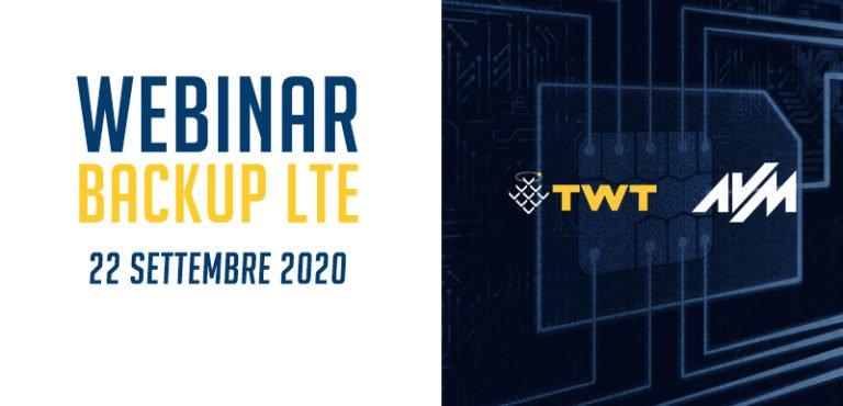 Webinar Connessione Backup LTE di TWT con AVM