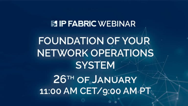 Webinar: Foundation of Your Network Operations Ecosystem