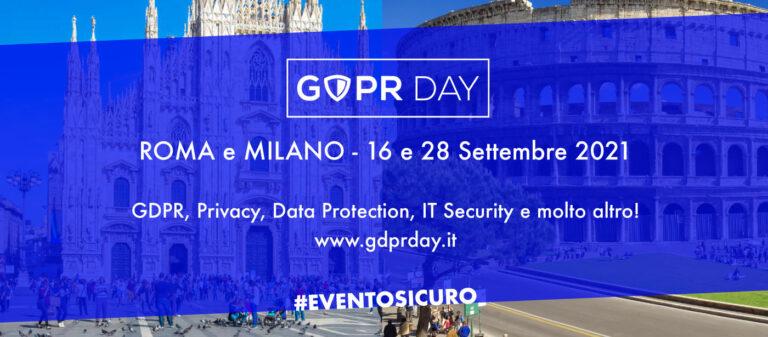 A settembre tornano le Conferenze GDPR Day dal vivo