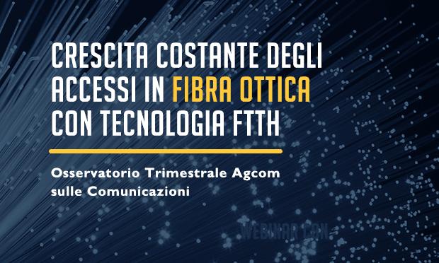 Agcom: gli accessi alla rete fissa con tecnologia FTTH in Italia superano i 2,1 milioni
